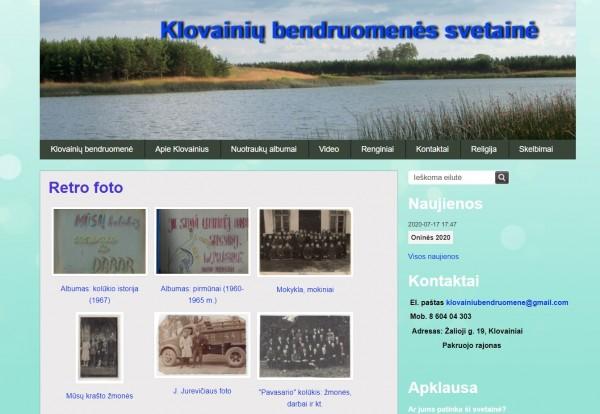 Klovainių bendruomenės interneto svetainėje – naujas skaitmeninis nuotraukų albumas