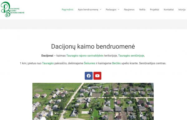 Nauja Dacijonų kaimo bendruomenės internetinė erdvė skatina bendradarbiavimą