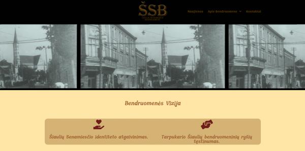 Informacijos sklaidai – Šiaulių Senamiesčio bendruomenės internetinė svetainė