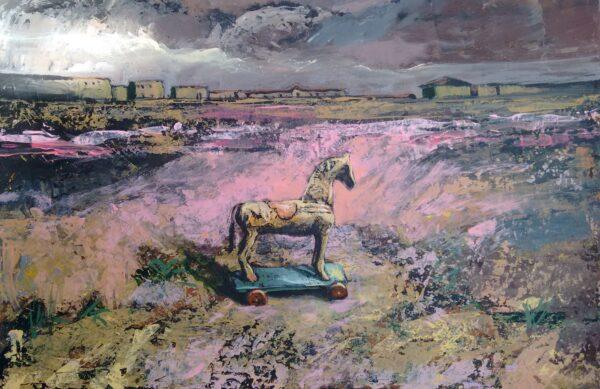 Juan Rodrigo Piedrahita Escobar. Horse. Acrilic on canvas