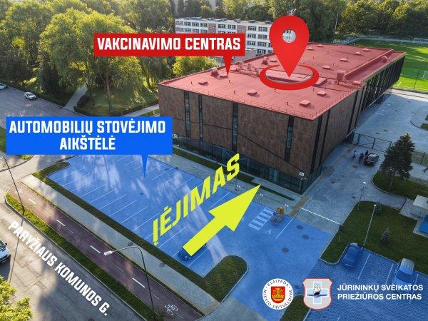 Klaipėdos vakcinavimo centras – naujoje vietoje